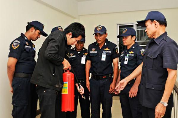การฝึกอบรมให้กับเจ้าหน้าที่รักษาความปลอดภัย