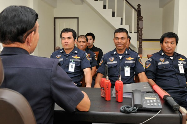การฝึกอบรมเจ้าหน้าที่รักษาความปลอดภัย